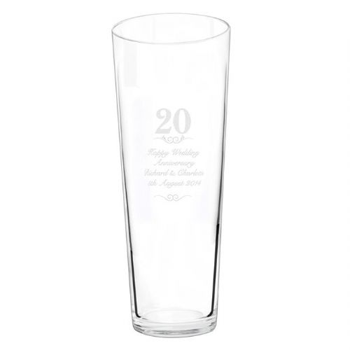 Personalised 20 years Conical Vase